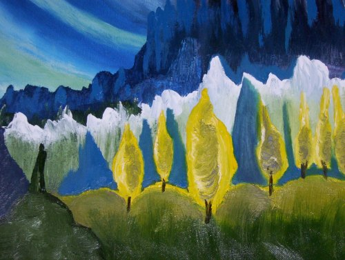 """Jungian Forest, 16"""" x 20"""", Oil on Canvas, Unframed"""
