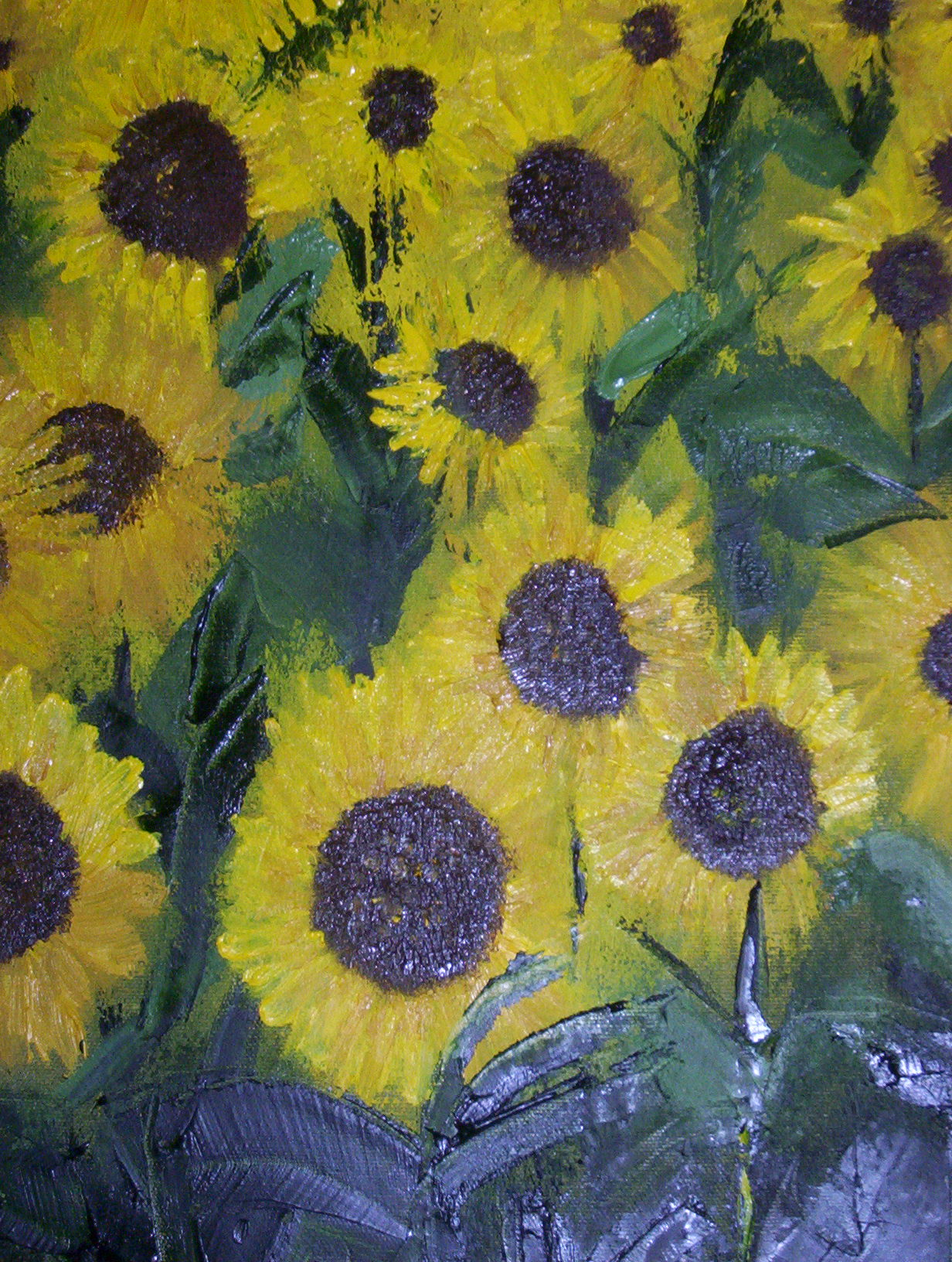 Sunflowers - Oil on Canvas - 16x20""