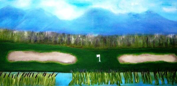 Golf Course Oil on Canvas 48x32""