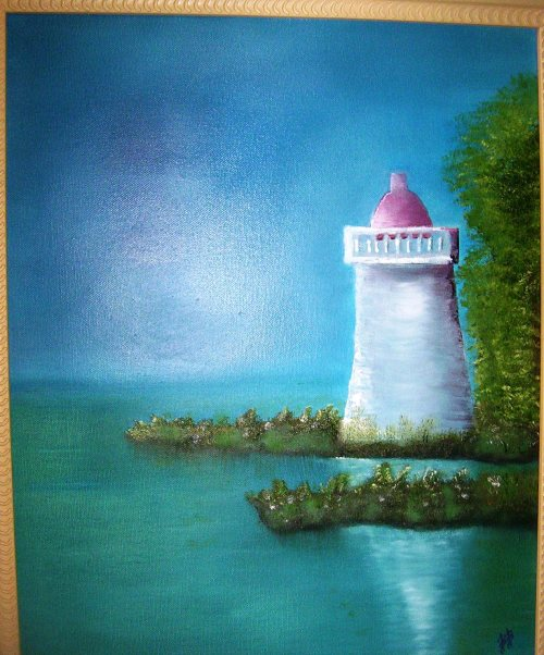LIGHTHOUSE PAINTING 16x20 Oil on Canvas