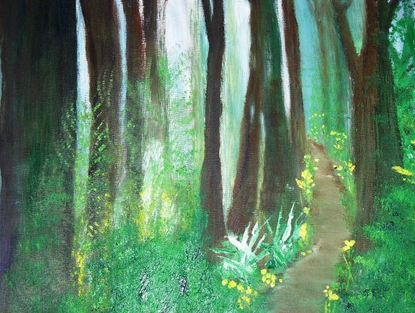 ENCHANTED FOREST 16x20 Oil on Canvas