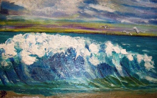 "Big Wave - Acrylic on Panel - 16"" x 20"" - Busch"