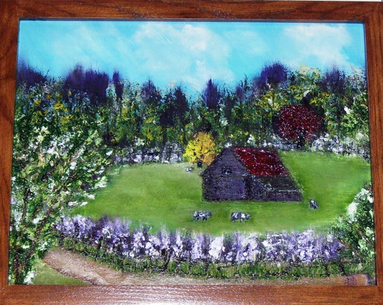 "The Farm - Oil on Wood Panel - 16X20"""